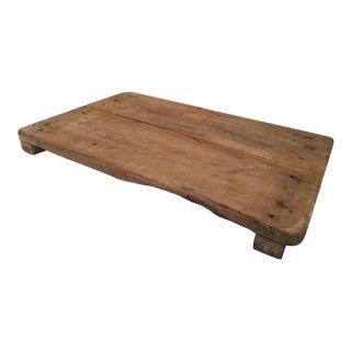 Antique Primitive Footed Bread Board