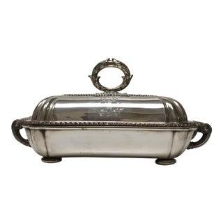 1790's Mathew Boulton Silverplate Entree Server & Warming Dish