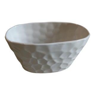 Boho Chic White Honeycomb Vase For Sale