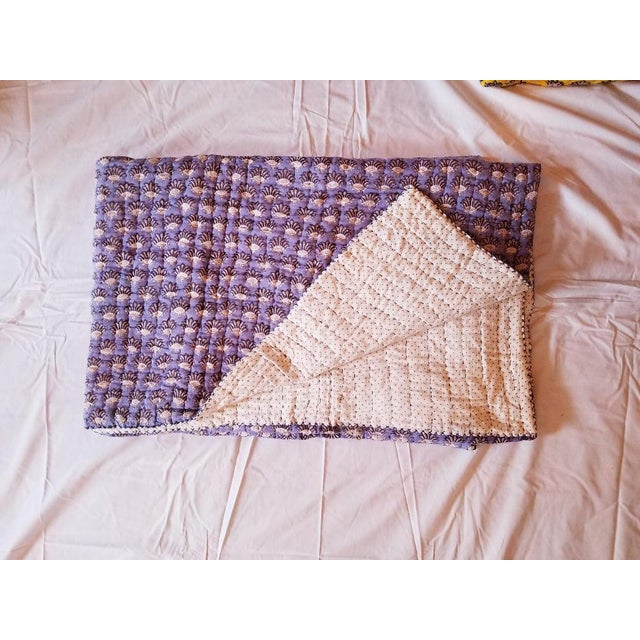 Textile Boho Chic Roberta Roller Rabbit Twin Purple Quilt For Sale - Image 7 of 7