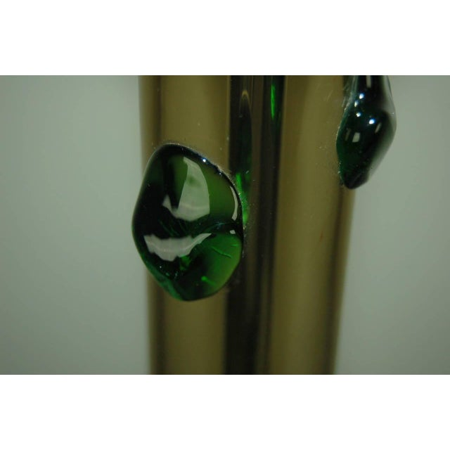 Gold Vintage Murano Glass Table Lamps With Prunts For Sale - Image 8 of 9
