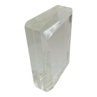 Late 20th Century Lucite Prism Sculpture / Picture Frame For Sale