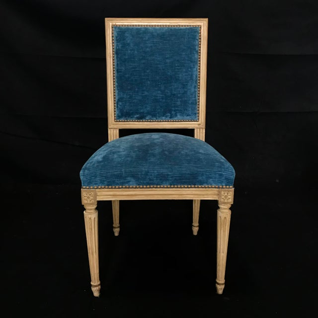 Classic 19th Century Louis XVI Dining Chairs Original Ivory Paint -Set of 8 For Sale - Image 10 of 13