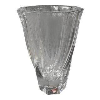 Orrefors Crystal Twist Vase Signed For Sale