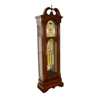 Sligh Cherry 9 Tube Tall Case Grandfather Clock
