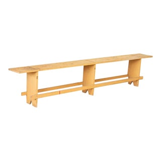 Antique Pine Bench From Hungary For Sale