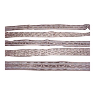 Kravet Couture Oval Overlay Amethyst Lattice Tape Trim - 26-1/2y For Sale
