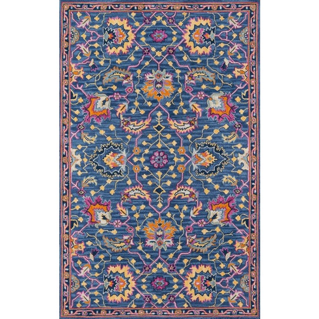 Blue Ibiza Blue Hand Tufted Area Rug 6' X 9' For Sale - Image 8 of 8