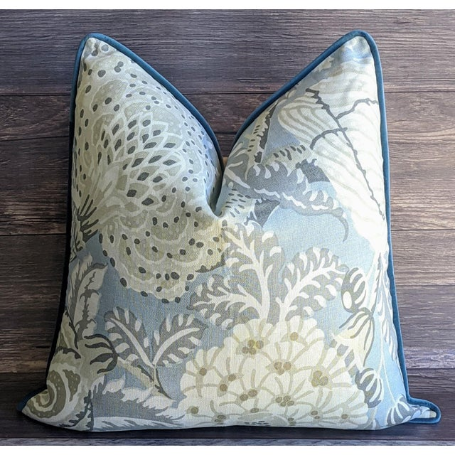 Thibaut Mitford Floral by Thibaut Pillow Cover For Sale - Image 4 of 4