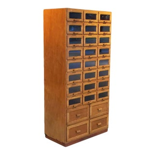 Large English Haberdasher's Cabinet For Sale