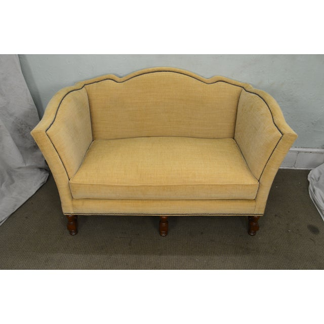 Wesley Hall Furniture Wesley Hall William & Mary Style Custom Loveseat For Sale - Image 4 of 13