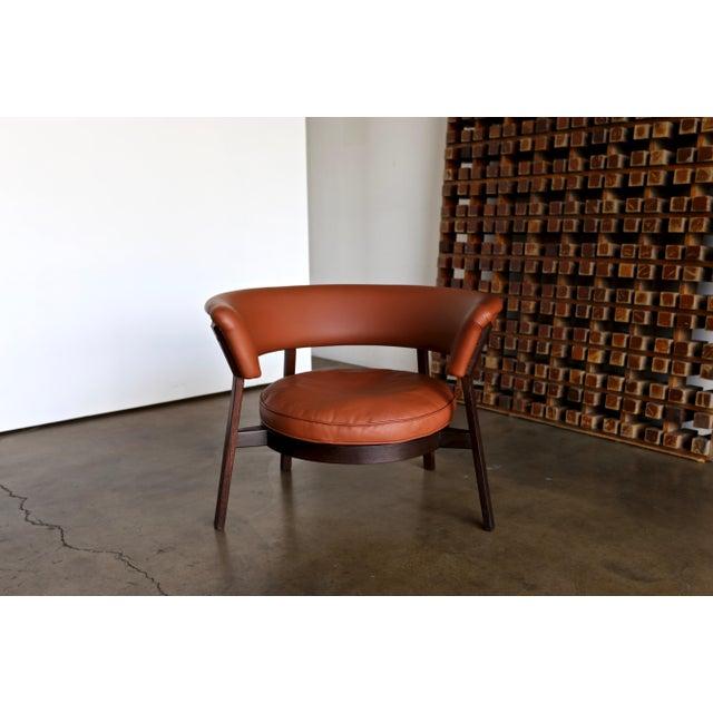 Tecno Vintage Mid Century Rare Eugenio Gerli P28 Lounge Chair for Tecno For Sale - Image 4 of 12