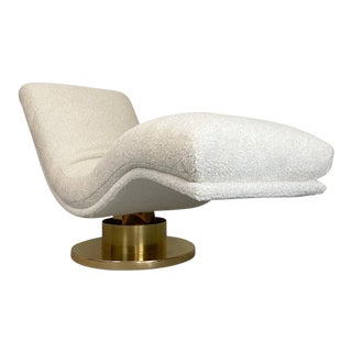 Milo Baughman for Thayer Coggin Swivel Chaise For Sale