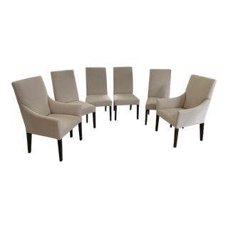 Bassett Upholstered Side Chairs & Upholstered Arm Chairs - Set of 6 For Sale