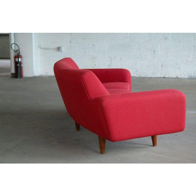 Large Danish 1960s Illum Wikkelso for Aarhus Model 450 Curved Sofas - a Pair For Sale In New York - Image 6 of 13