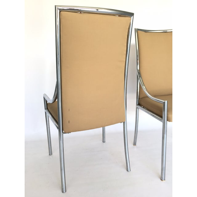 Chrome Dining Chairs After Milo Baughmann - A Pair - Image 5 of 7