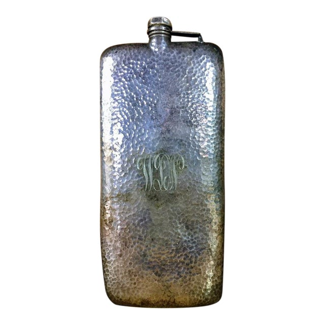 Silver-Plate Hip Flask by Apollo Co c. 1900 For Sale