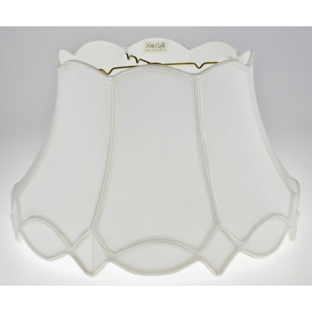 Vintage Nos Silk O Lite Scalloped Edge Lamp Shade For Sale - Image 13 of 13