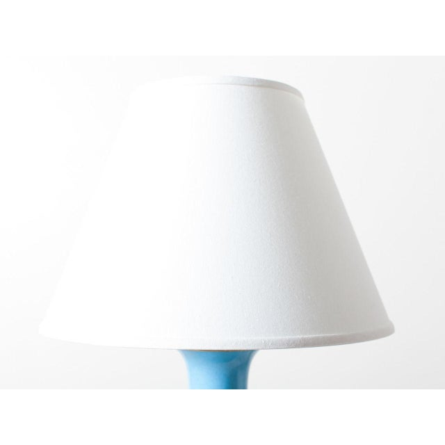 2010s Contemporary Turquoise Crackle Lamp For Sale - Image 5 of 6
