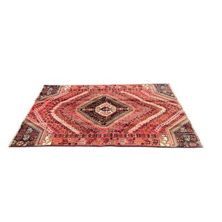 1950s Vintage Persian Rug - 4′1″ × 6′8″ For Sale