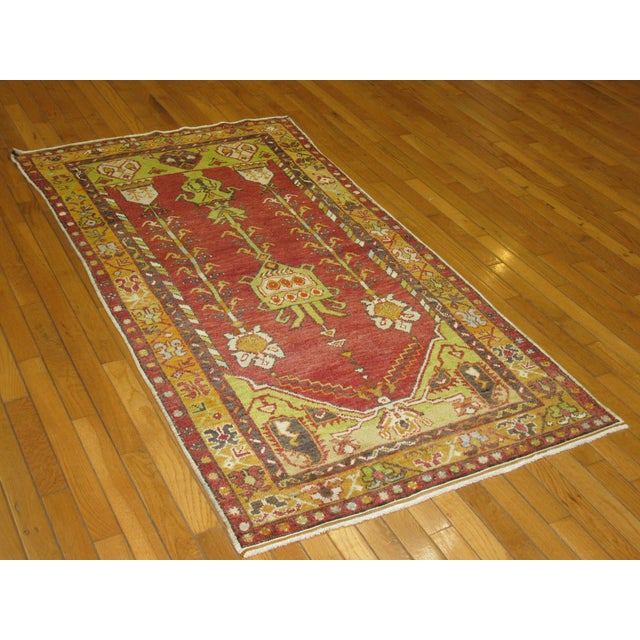 "Vintage Tribal Hand-Knotted Rug - 3' x 5'10"" - Image 5 of 5"