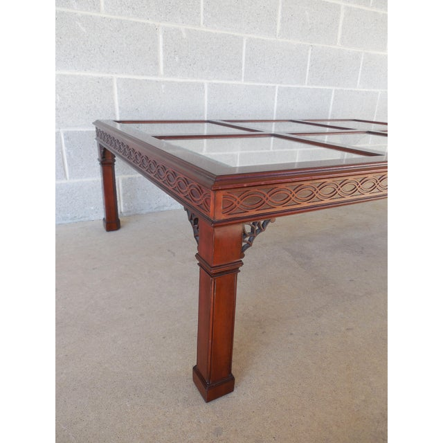 Kindel Furniture Kindel Chippendale Style Mahogany Coffee Table For Sale - Image 4 of 7