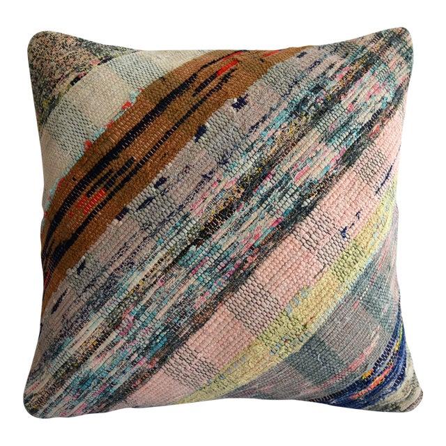 "16"" Pillow Cover Vintage Handmade Cotton Ragrug Kilim Sham Throw For Sale"
