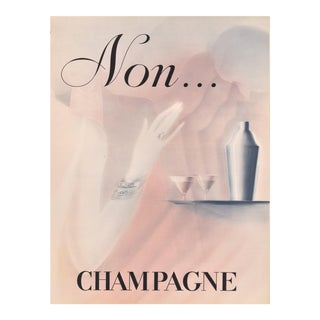 French Art Deco Champagne Print