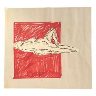 1970s Figurative Modern Figure Study by Hilliard Dean For Sale