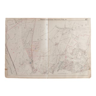 Vintage 1930s Hopkins Map of Village of Ossining For Sale