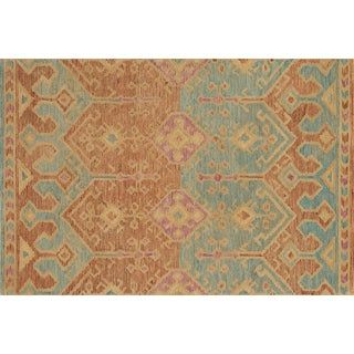 """Justina Blakeney x Loloi Rugs Spice / Teal Gemology Rug- 7'9""""x9'9"""" For Sale"""