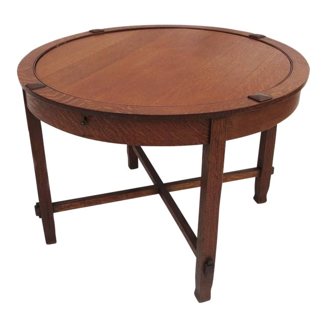 Arts and Crafts Flip-Top Game Table C. 1910 - Image 1 of 4