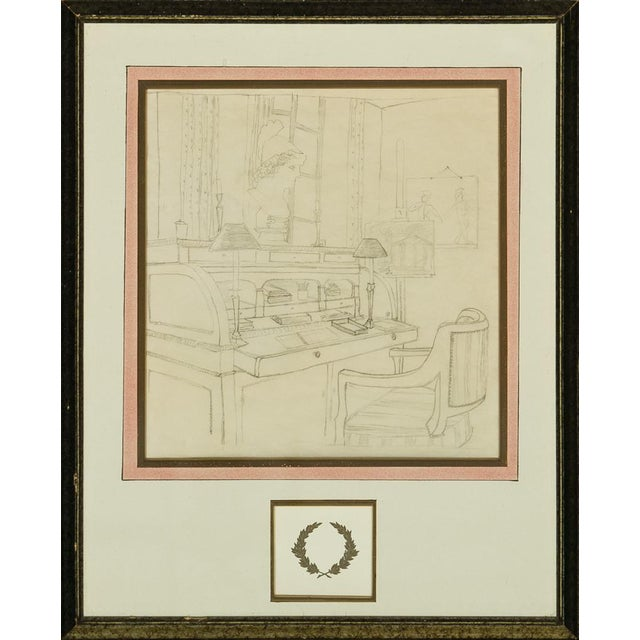 Interior Study Drawing For Sale
