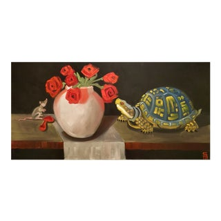 Stephen McDonough Contemporary Stop and Smell the Roses Original Oil Painting For Sale