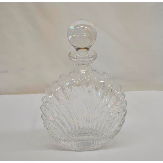 1950s Shell Design Glass Decanter For Sale - Image 5 of 5