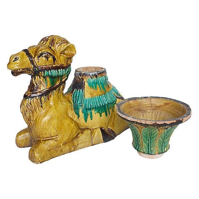 Ceramic Terracotta Camel Planter For Sale - Image 7 of 13