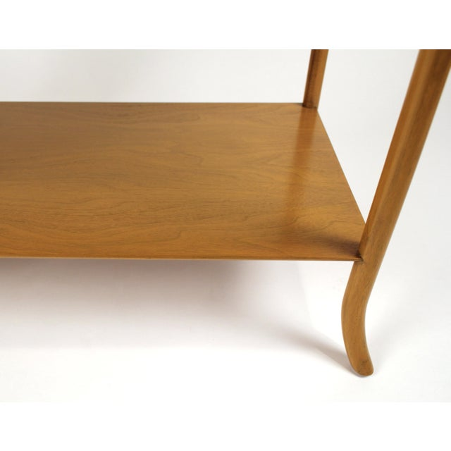 t.h. Robsjohn Gibbings Bleached Mahogany Sabre Leg Side Tables for Widdicomb - A Pair For Sale In Dallas - Image 6 of 9