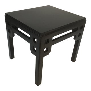 1960s Asian Black Lacquer Side Table For Sale