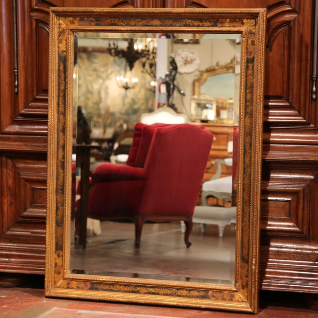 19th Century French Carved Hand-Painted Mirror with Bevelled Glass from Paris - Image 3 of 8