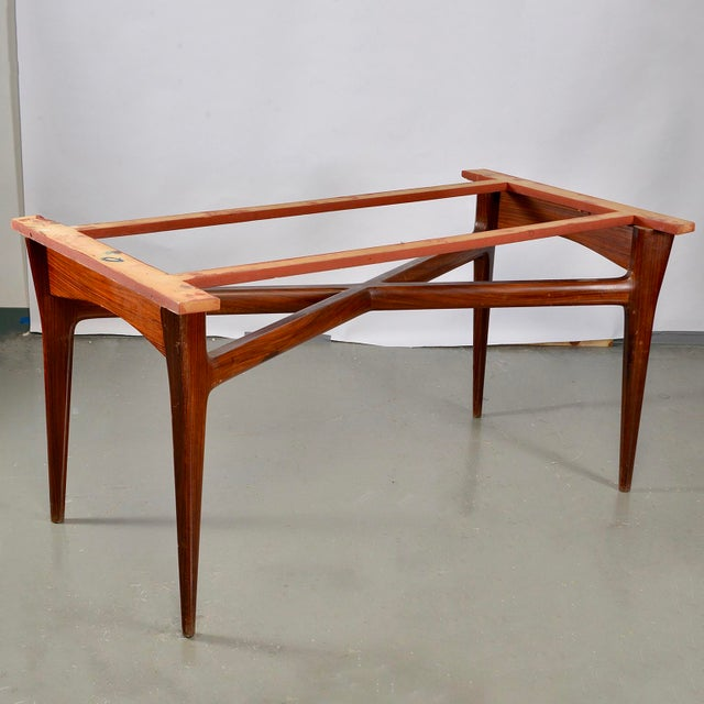 Mid-Century Italian Dining Table With Green Glass Top and Fluted Edge For Sale - Image 10 of 11