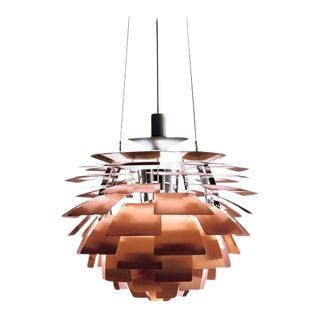 Monumental Poul Henningsen Copper Ph Artichoke Pendant for Louis Poulsen
