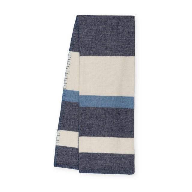 Textile 100% Baby Alpaca Block Stripe Throw For Sale - Image 7 of 7