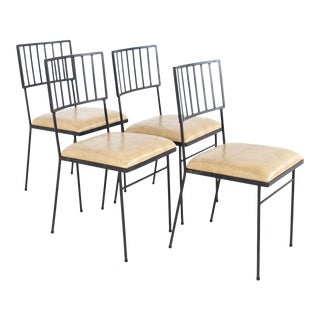 Milo Baughman for Pacific Iron Works Mid Century Chairs - Set of 4 For Sale