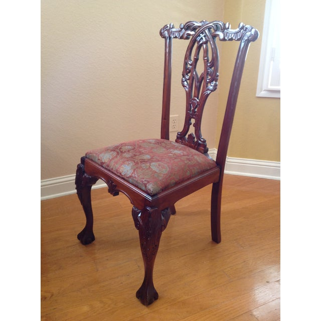 Chippendale-Style Mahogany Dining Chairs - Set of 6 For Sale - Image 4 of 13