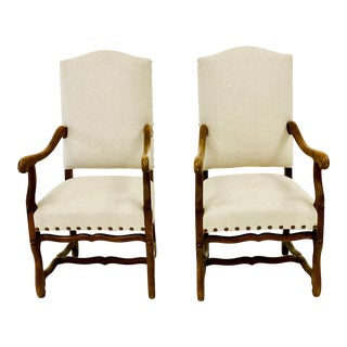 Os De Mouton Chairs- A Pair For Sale