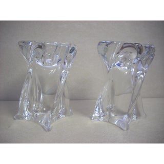 1970s Crystal St. Louis Candleholders - a Pair Preview
