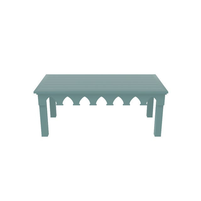 Oomph Ocean Drive Rectangle Outdoor Coffee Table, Green For Sale In New York - Image 6 of 7