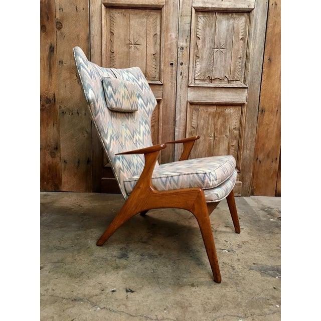 Danish Modern Vintage Mid Century Kurt Ostervig High Back Lounge Chair For Sale - Image 3 of 13