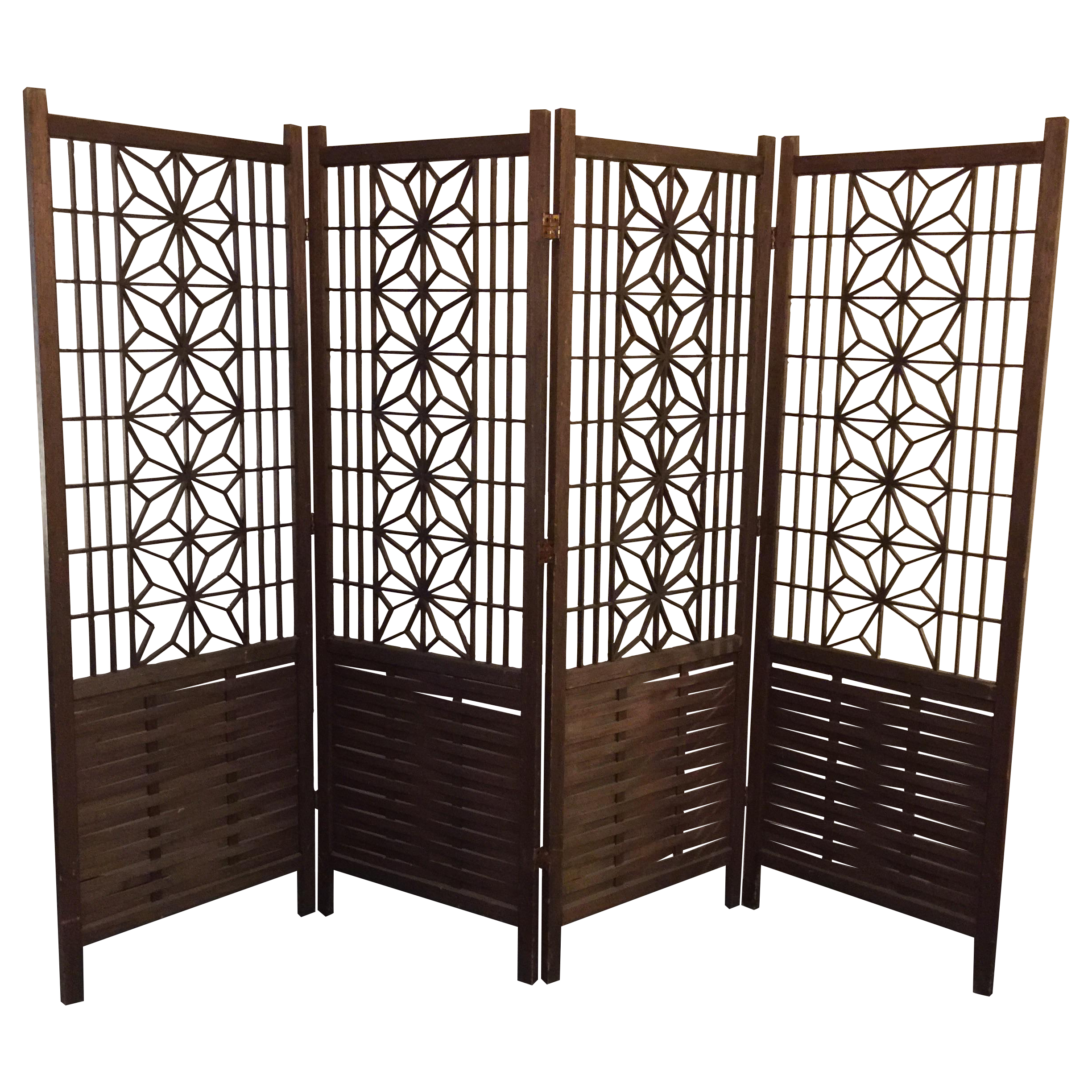 Midcentury Modern Walnut Panels Room Divider Chairish