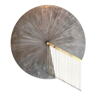 Late 20th Century Postmodern Fanned Steel Wall Sculpture For Sale